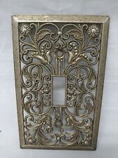 VINTAGE metal light switch plate cover