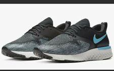 Nike Odyssey React Flyknit Running Shoes Size 13 Men's Black & Blue AH1015-002