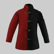 Medieval thick padded Black Gambeson With Removable Sleeves Armor reenactment