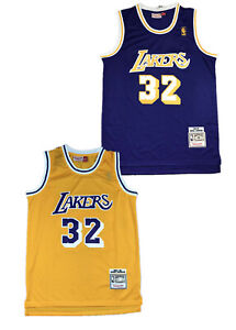 2Colors Earvin Magic Johnson LA Lakers 1984-85 Hardwood Classics Swingman Jersey