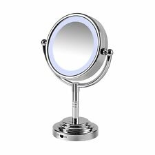 Make Up Mirror Battery Operated Dual Sided Led Illuminated Mirror New