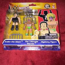 WWE Stackdown andre the giant the ultimate warrior + mystery figure ages 6+ NEW