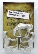 Knuckleduster KDM-16104 Bareback Horses (Gunfighter's Ball) Old West Animals NIB