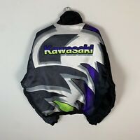 90s Vintage Rare Men's Kawasaki Racing Bike F1 Motorcycle Jacket Size XL