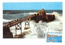 Card Maximum FDC France Biarritz Rock of the Blank 1976