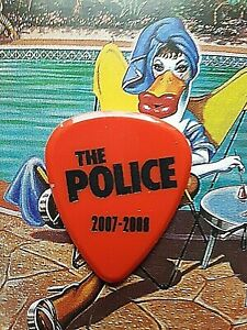 THE POLICE Andy Summers 2007-2008 Reunion Tour red guitar pick