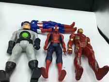MIXED LOT OF 4 ACTION FIGURES / TOYS -  CAP AMERICA IRONMAN, AND SUPERMAN