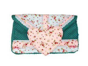 Irregular Choice New Pink Floral Patty Vintage Retro Clutch Bag Handbag