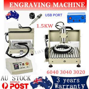 1.5KW 4AXIS CNC 3020/3040/6040 Router Engraver Carving Milling Machine USB AUAU