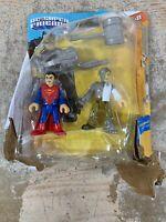 Fisher-Price Imaginext Superman & Metallo DC Super Friends Figures Set