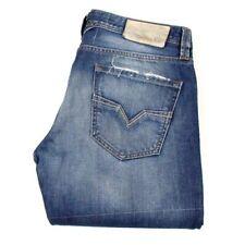 Herren-Straight-Cut-Jeans aus Baumwolle mit niedriger Bundhöhe (en) Larkee
