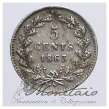 (Monetaio) Netherlands Willem III 5 Cents 1863 Silver KM# 91