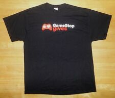 GAMESTOP GIVES Black Employee 2 Sided Shirt - Adult XL *NEW*