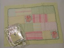 Pottery Barn Kids Heather Patchwork Quilted Sham Standard Yellow Pink Flower New
