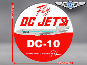 NORTHWEST AIRLINES NWA ROUND FINAL LIVERY DC10 DC 10 FLY DC JETS DECAL / STICKER