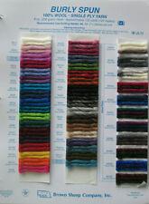 2015 Brown Sheep Yarn Company Loose Leaf Catalog Wool Sample Cards Nebraska USA