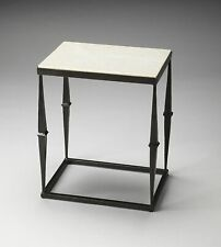 Butler Jacoby White Marble Side Table New