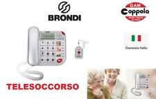 Brondi Superbravo Plus Telefono fisso Senior Facilitato per anziani con SOS
