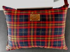 WILL LEATHER GOODS Adler Family Red Tartan  PLAID PILLOWS 