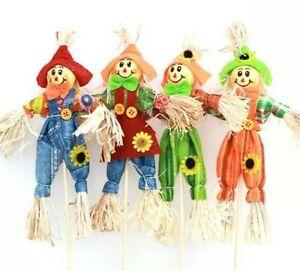 SET OF 4 small GARDEN SCARECROW Decoration for Garden, home, school, Halloween