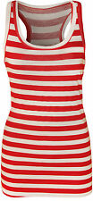 Women's Striped Sleeveless Vest Top, Strappy, Cami Tops & Shirts