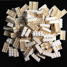 100 NEW LEGO 2x4 White Bricks (ID 3001) BULK star wars hoth city town etc.