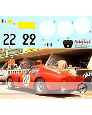 1/12 FERRARI 250 GTO DECAL LE MANS 1962 No. 22 #3757 GT for REVELL Dernier