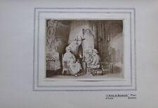 Rembrandts Atelier - Kunstblatt aus 1906 Kunstdruck art print