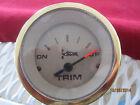 Teleflex Trim Meter Gauge -gold Bezel P62518
