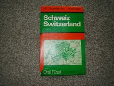 Vintage Road Map of Switzerland 1979 / 1980 in 4 languages
