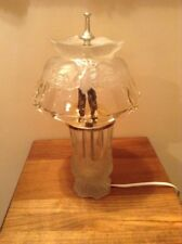Stunning vintage lead crystal table lamp made in Portugal