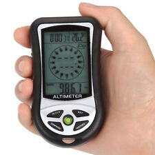 8in1 Multifunction Digital thermometer altimeter Barometer Compass Clock Hiking