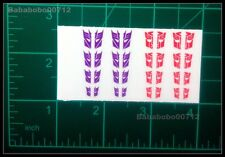 New Autobotos Decepticons Symbol White border hollow stickers for transformers