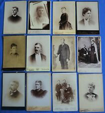 Cabinet Photo Lot of 100 Men Women Children Various Locations No Dupes Most USA