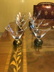 Vintage stemless bubble martini glass Set Of 8 Pices