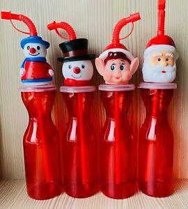 Naughty Elf Reusable Plastic Christmas Water Bottle Santa Snowman Wholesale