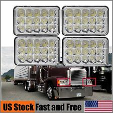 "Qty 4 4x6"" LED Headlights Hi-Lo Sealed Beam IP68 For Freightliner FLD120 FLD112"