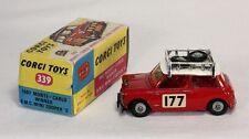 CORGI TOYS 339, 1967 Monte Carlo Winner B.M.C. Mini Cooper, Comme neuf in box #ab1246