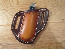CASE TRAPPER or STOCKMAN or similar size pancake leather Sheath.