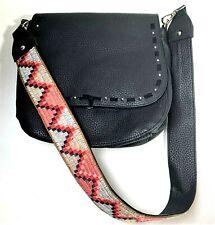 Steve Madden Faux Leather Black Handbag Shoulder Bag Purse 10x10x4
