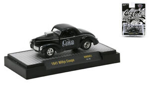 M2 Machines 1:64 Coca-Cola Release NMD01 - 1941 Willys Coupe