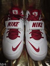Oklahoma Sooners Nike Team Code D Football Shoes Cleats Mens 10 10.0 NEW