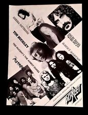 1974 FRANK ZAPPA DISCREET RECORDS ARTISTS AD MOTHERS W/ JEFF SIMMONS TIM BUCKLEY