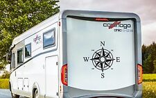 "MOTORHOME CAMPER CARAVAN BOAT YACHT COMPASS VINYL GRAPHIC STICKER LARGE 22""x22"""