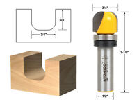 "3/4"" Diameter Bowl & Tray Template Router Bit - 1/2"" Shank - Yonico 14961"