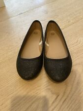 Girl's Shoes Flats Black Glittery  Sz 13 Excellent Condition.