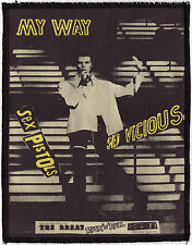 SEX PISTOLS OVERLOCKED PRINTED PATCH MY WAY SID VICIOUS PUNK ROCK 1977 A6+