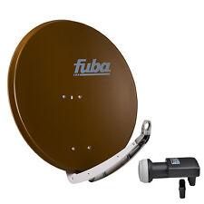 FUBA DAA 850 B + SHARP Quad LNB SAT Spiegel Schüssel braun Alu Antenne 85 cm