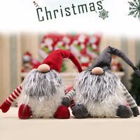 Fj- Eg _ Squisito Natale Gnomo Tomte Babbo Bambola Peluche Festa di Ornamento