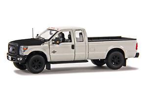 "Ford F250 Super Cab 8 Ft Bed - ""WHITE"" - Black Hood - 1/50 - Sword #SW1100WM"